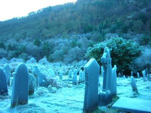 a cold January day at an old Irish cemetary