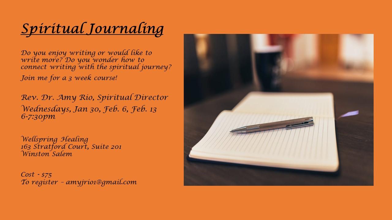 Spiritual Journaling flyer