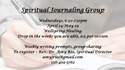 Spiritual Journaling Group flyer